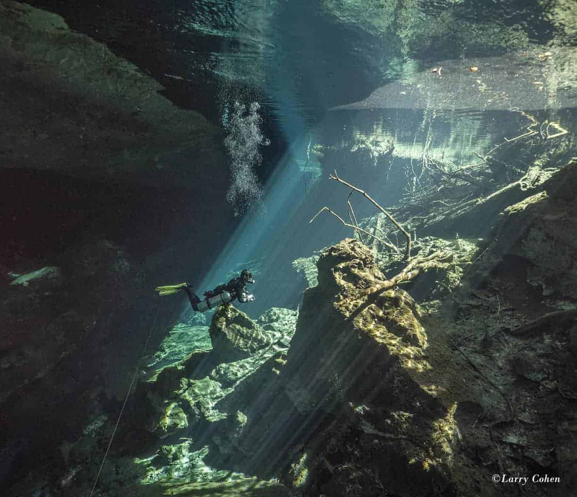 Cenote Chac-Mool is one of the caverns which has a halocline.