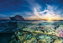 Sunset Split Barge