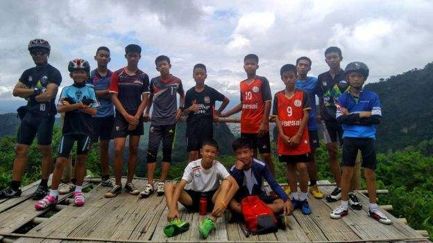 Missing Thailand football squad and coach found alive in cave