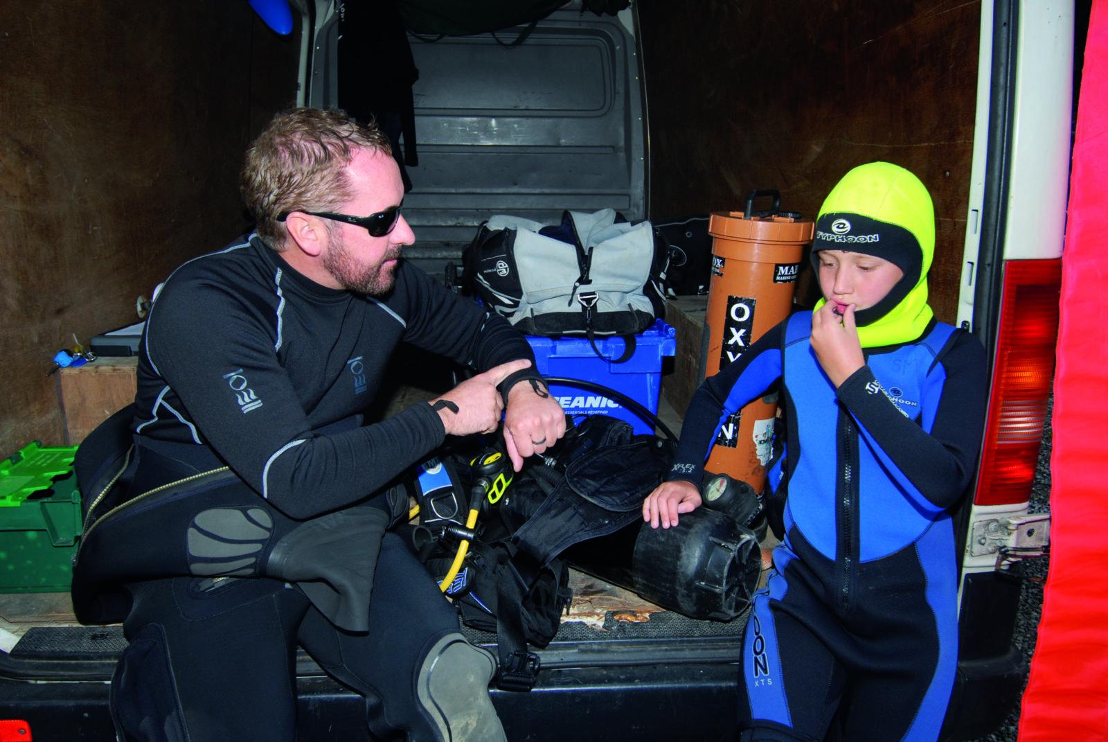 PADI Open Water Aged 10 by Jeremy Cuff