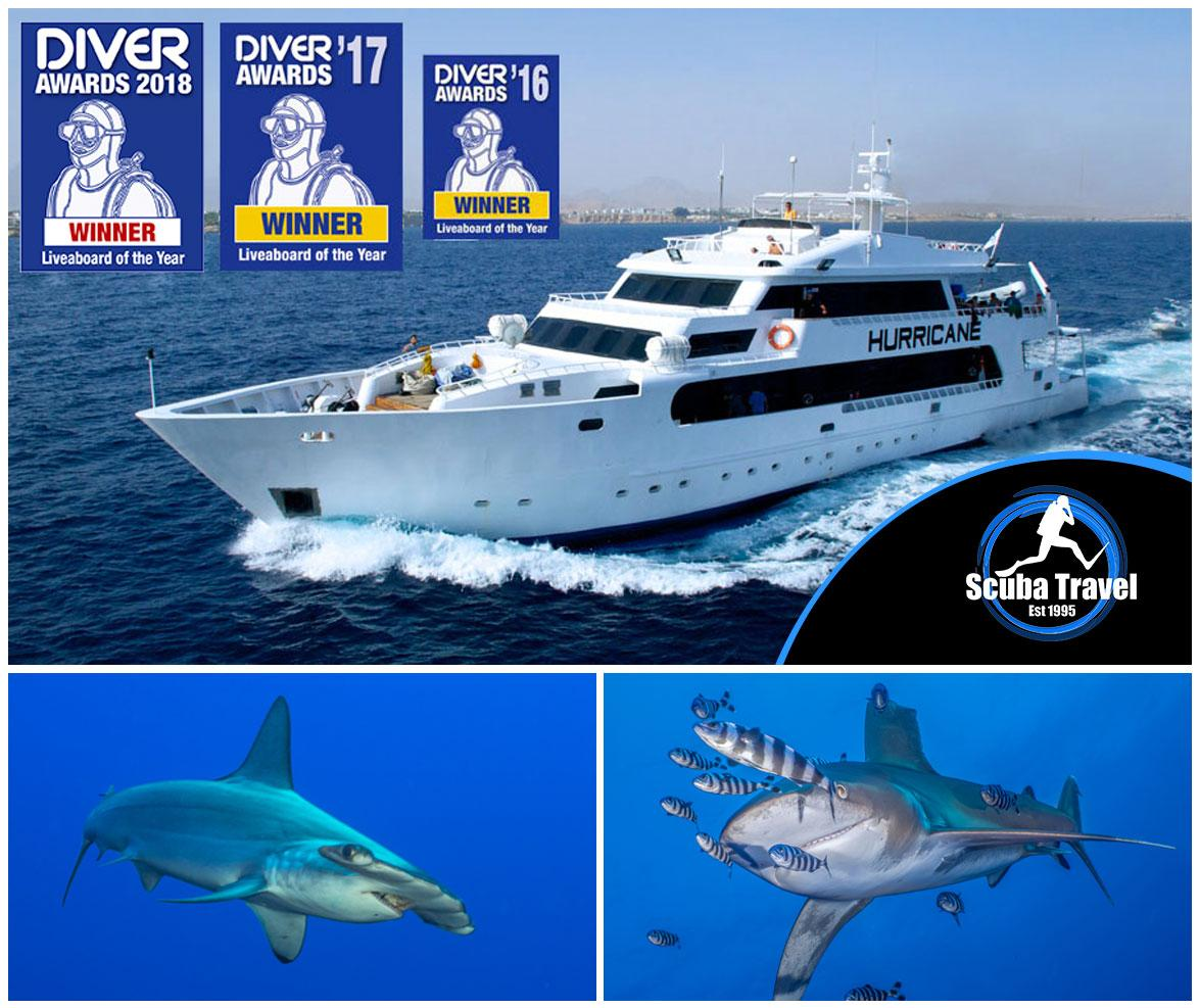 Scuba Travel, Shark Quest, Hurricane