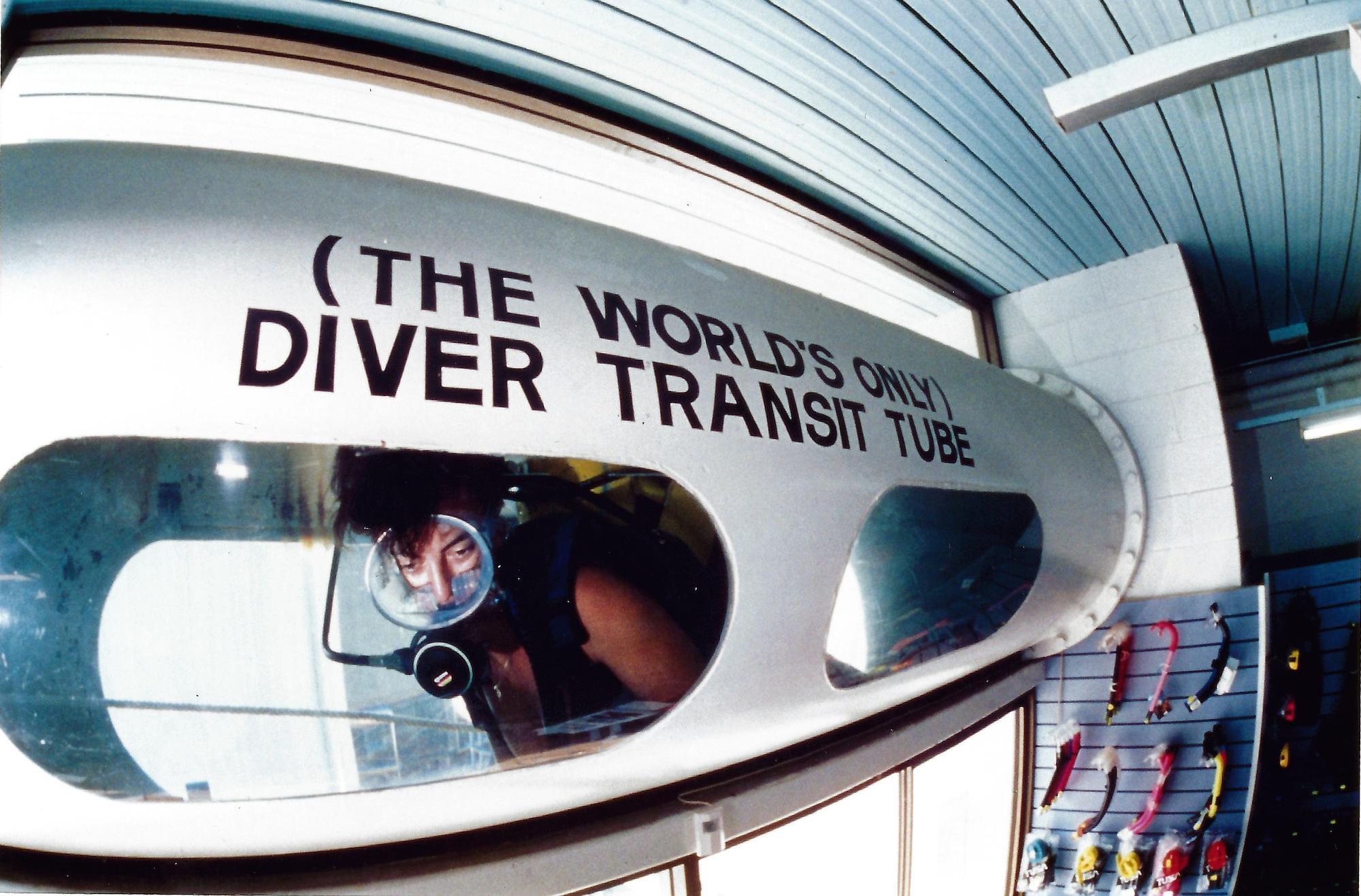 Diver Transit Tube Townsville Dive Centre