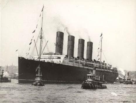 Lusitania New York