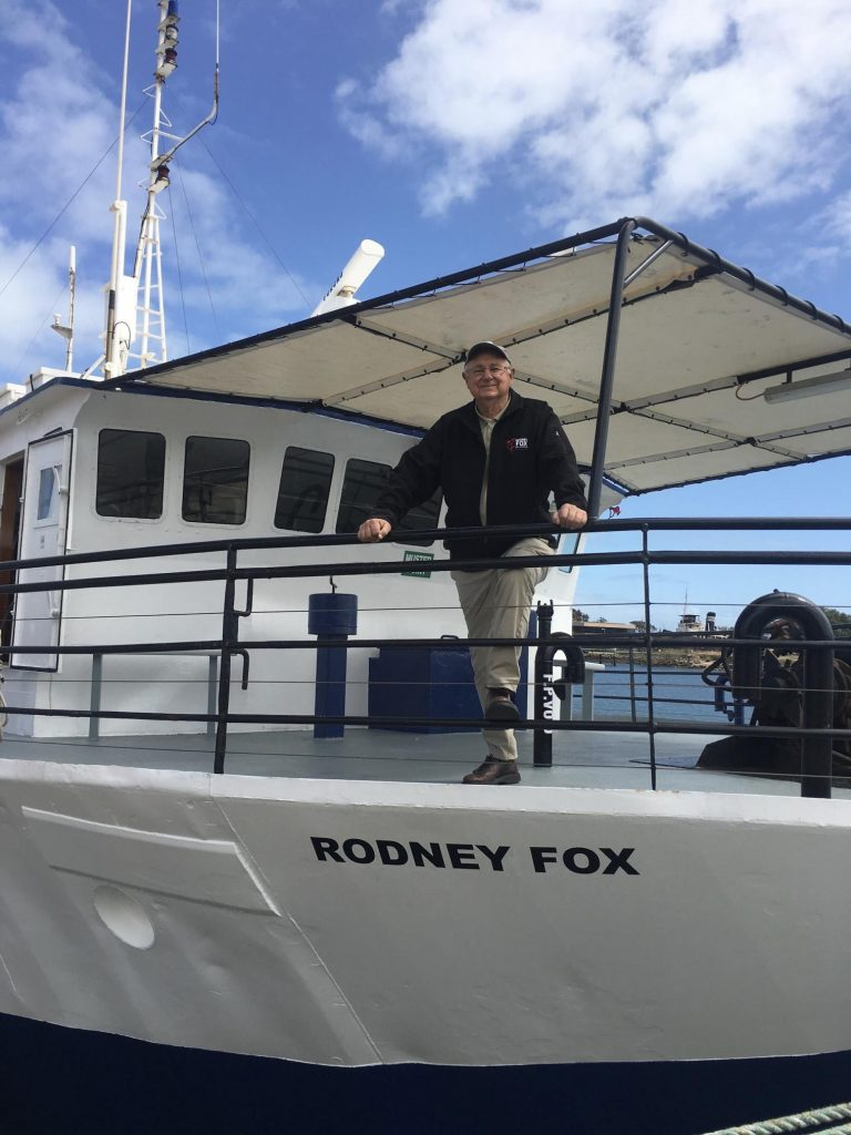 Rodney Fox honoured for protecting great white sharks 1