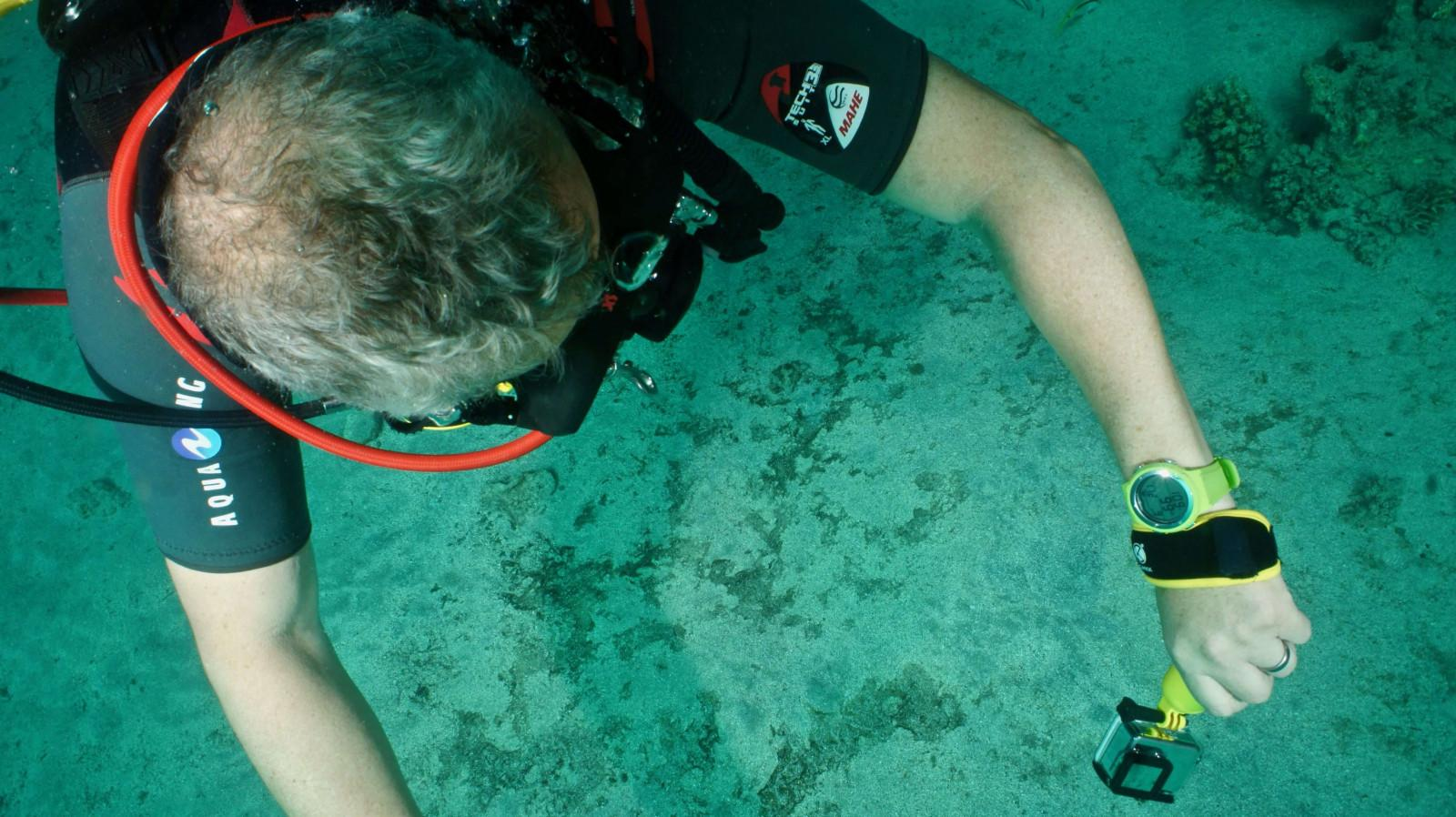 Aqua Lung i200C hot lime colour in use by a diver
