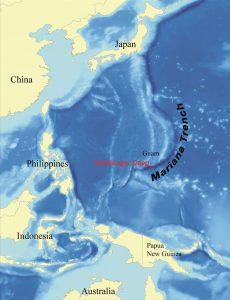 Mariana Trench map