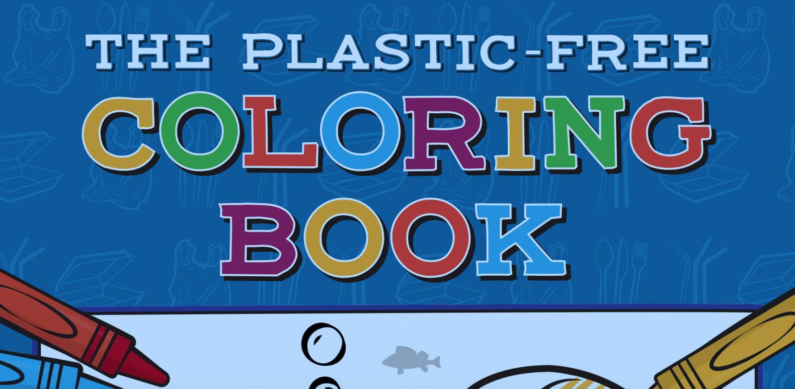 plastic free colouring book