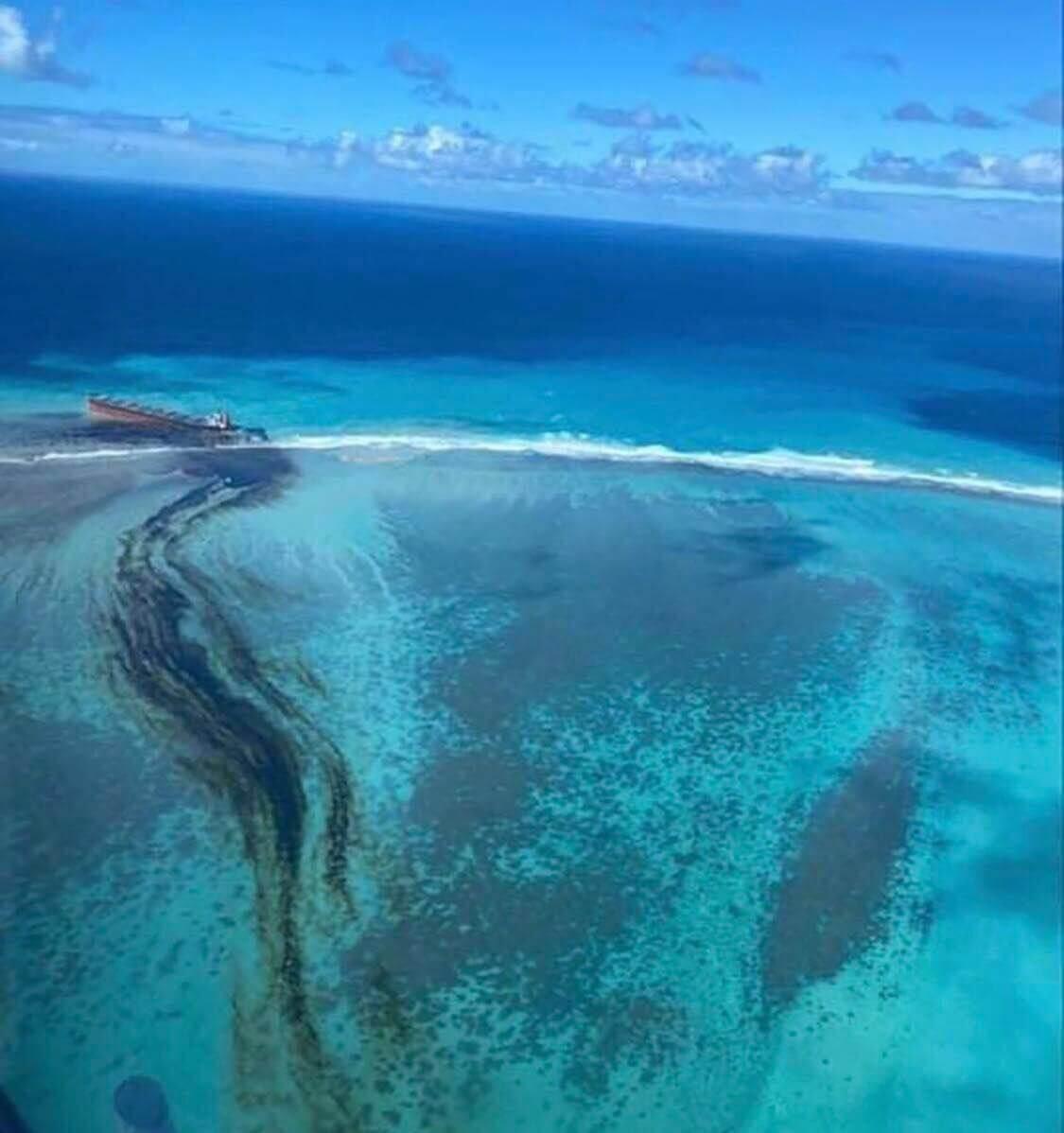 MV Wakashio oil spill image