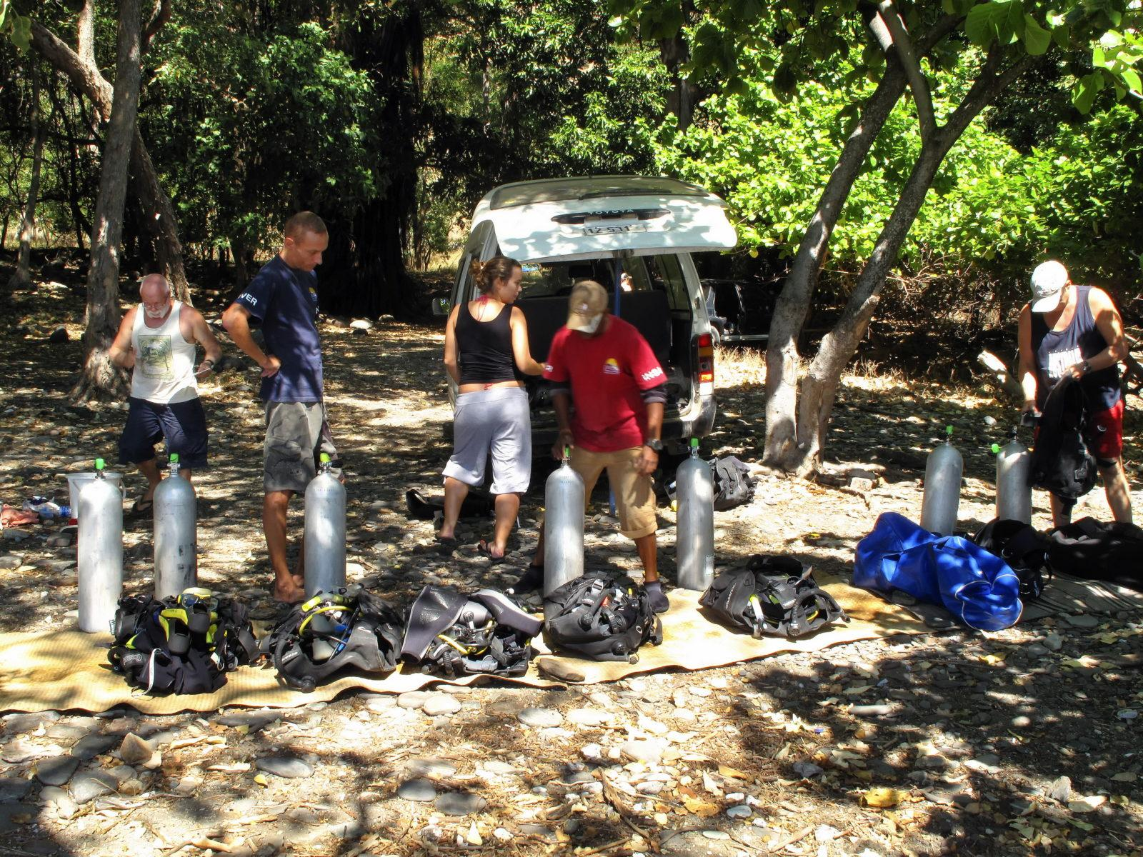 Kitting up East of Dili