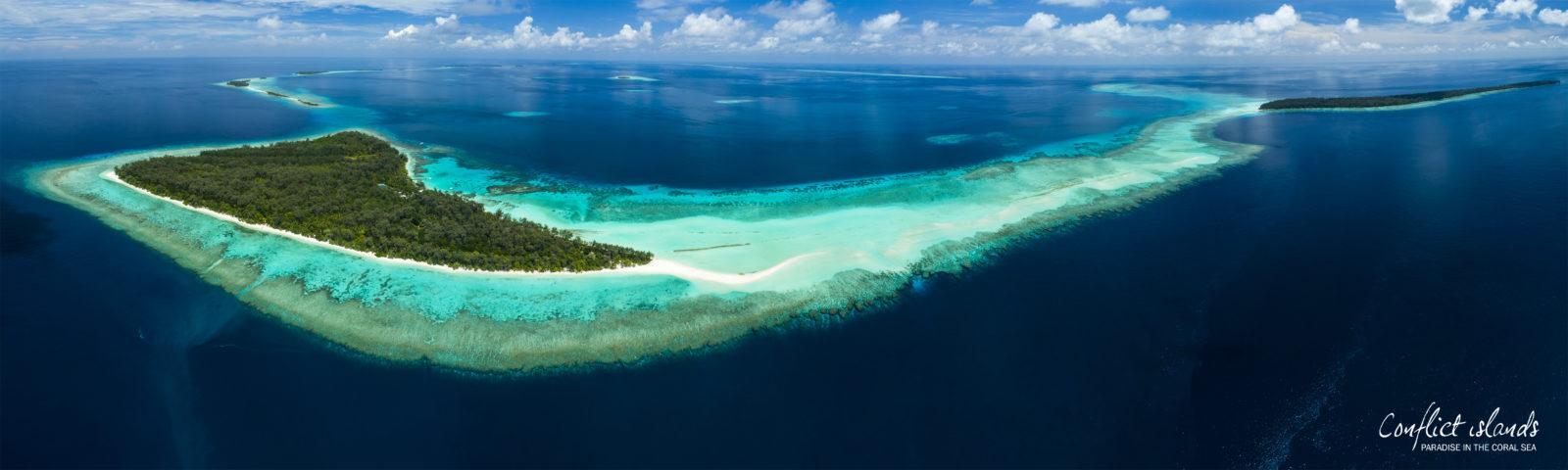 Conflict Islands Aerial Panorama