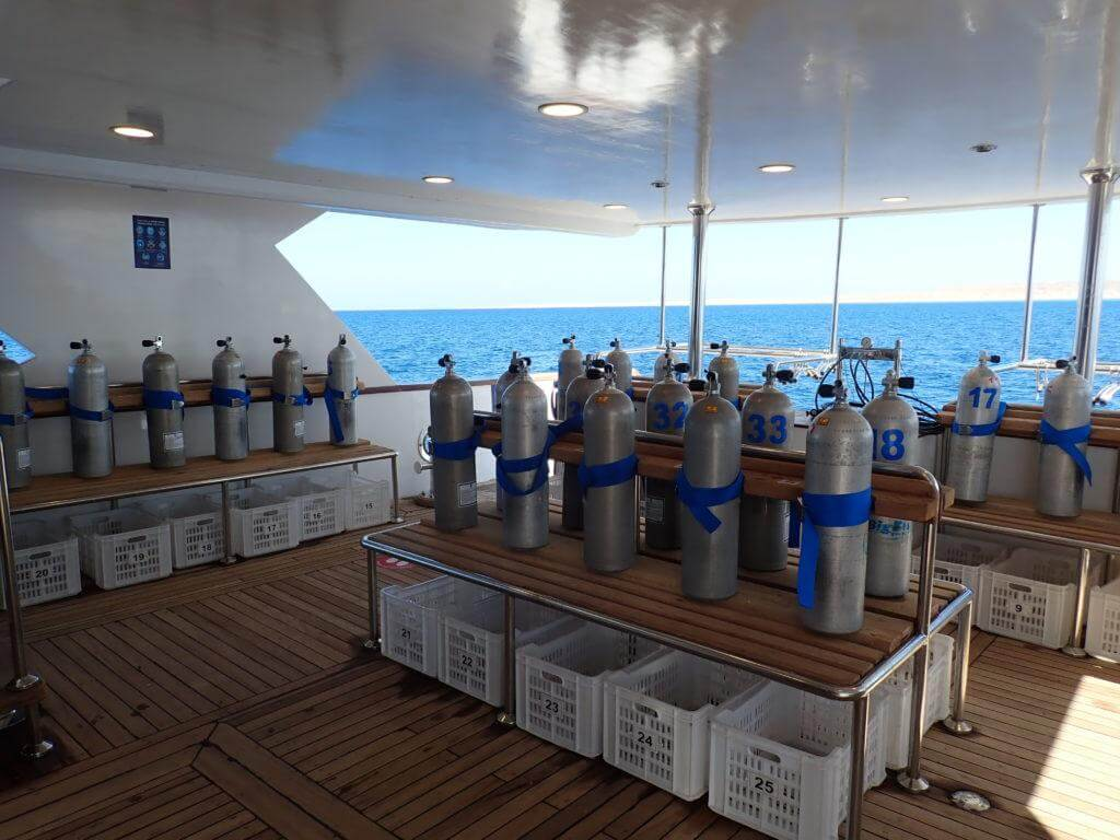 MY BIG BLUE Dive Deck with Stage Tanks