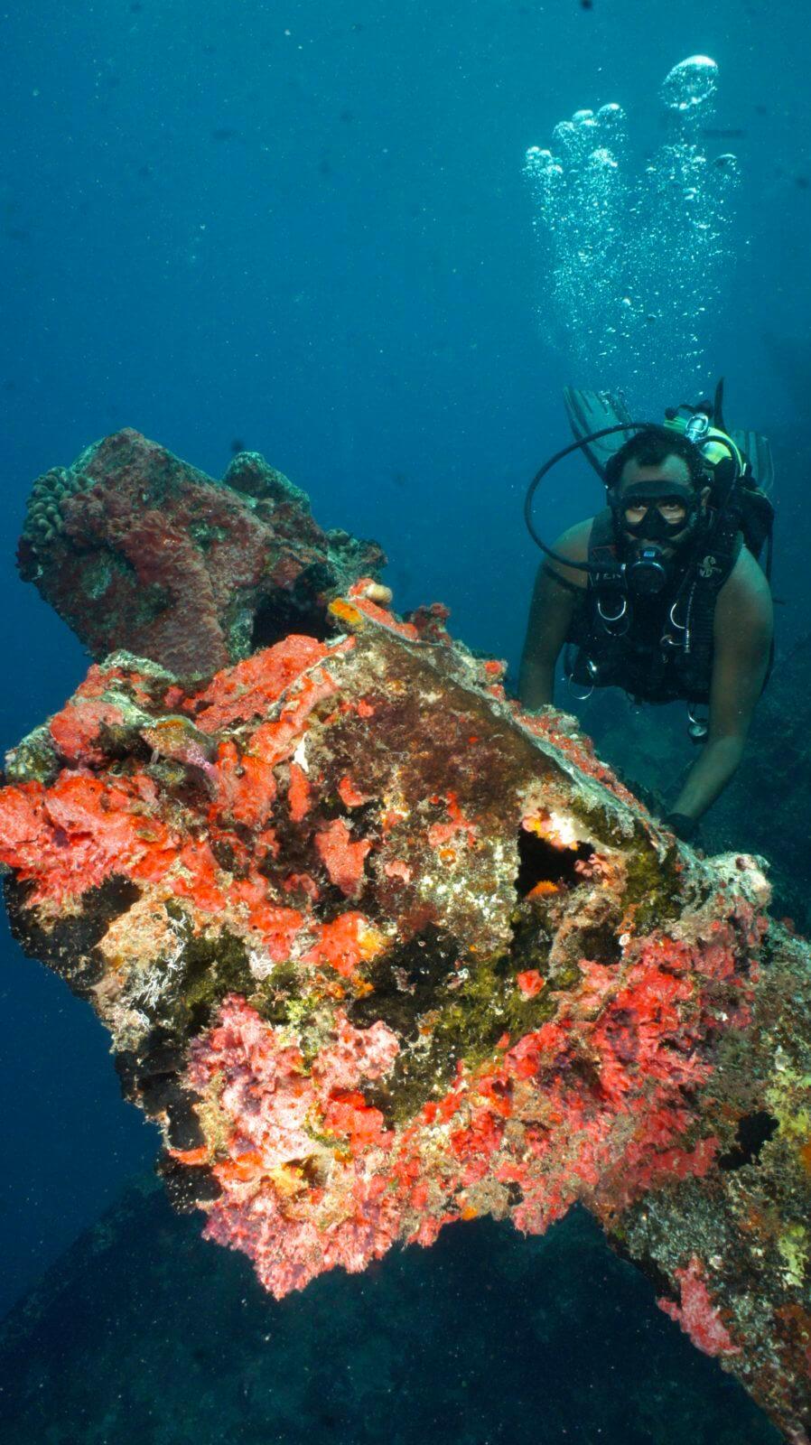 scuba wreck diving Maldives