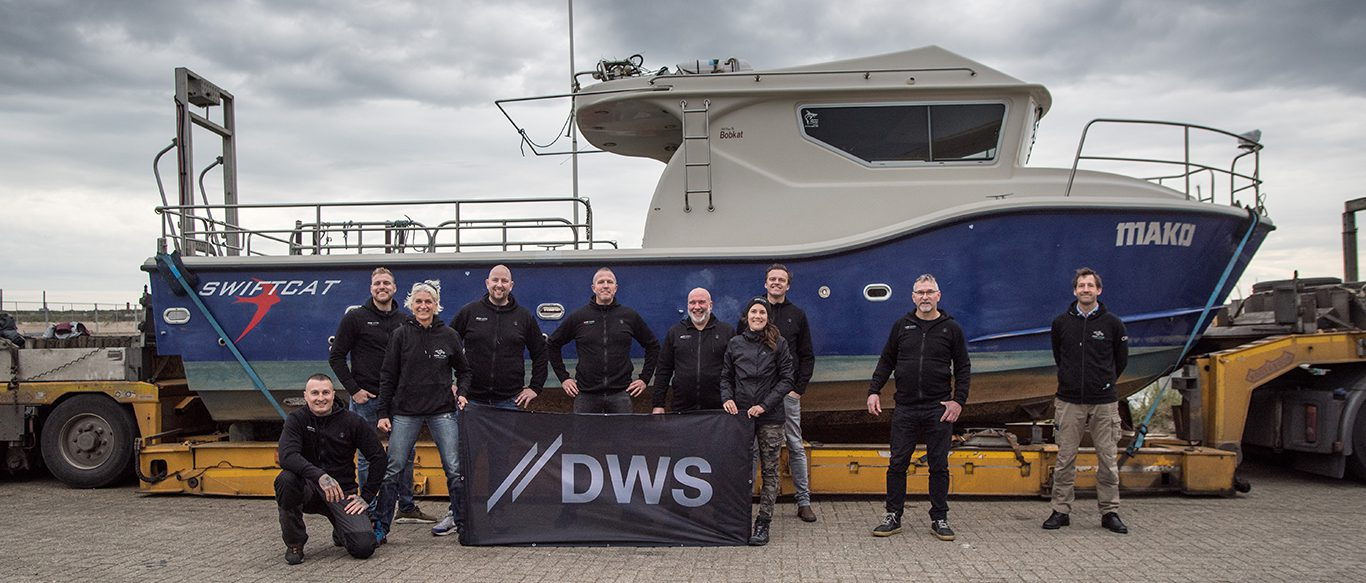 DWS crew in front of MAKO SWIFTCAT