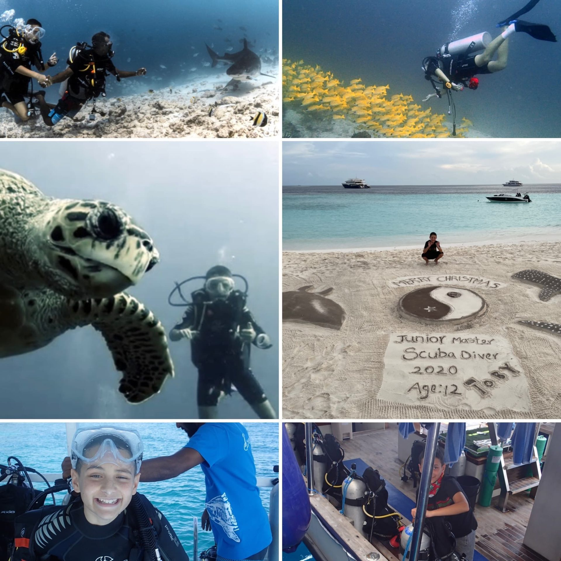 Toby Monteiro-Hourigan on fulfilling his dream of becoming the world's youngest Master Scuba Diver