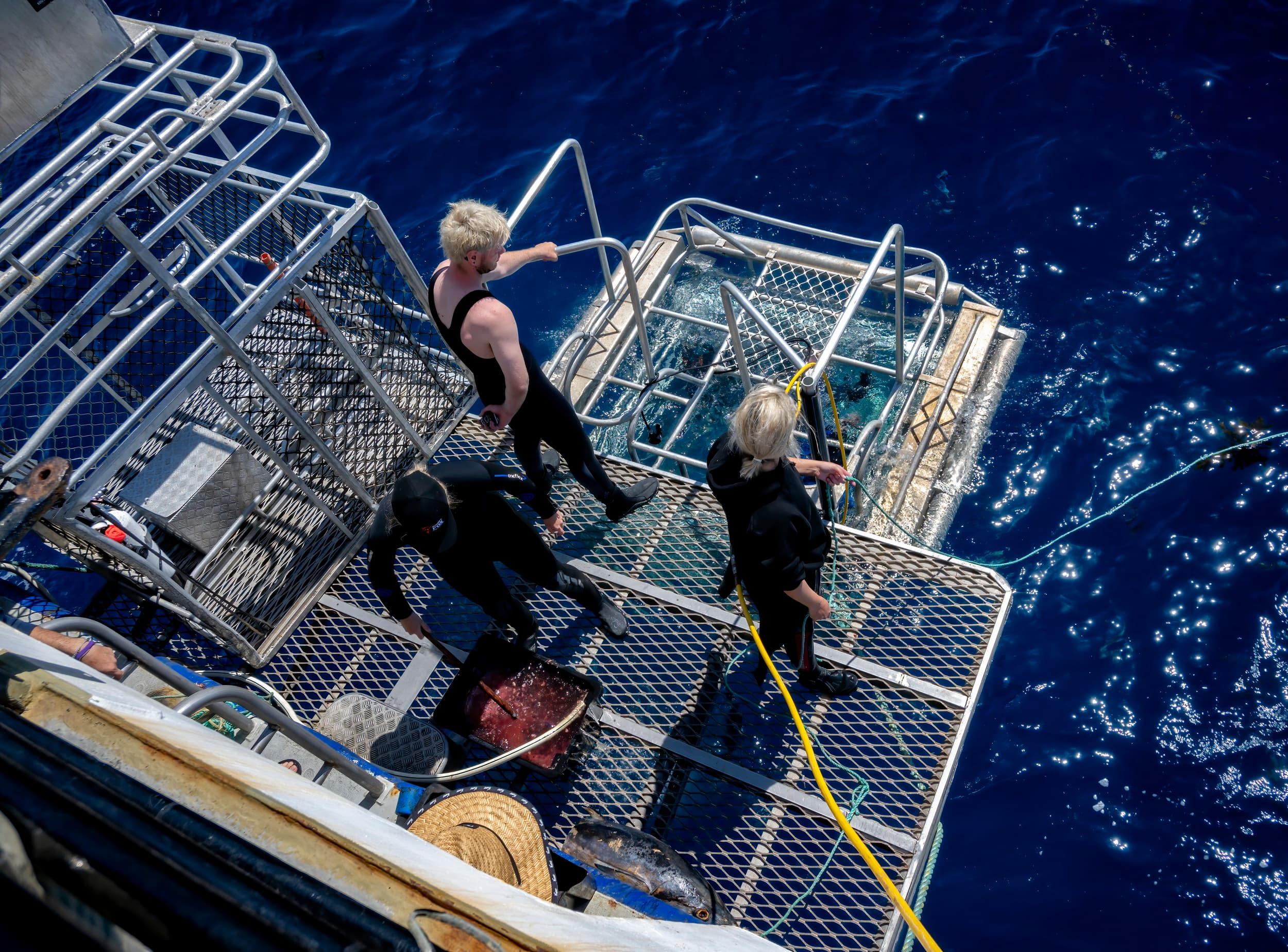 Crew cage duty