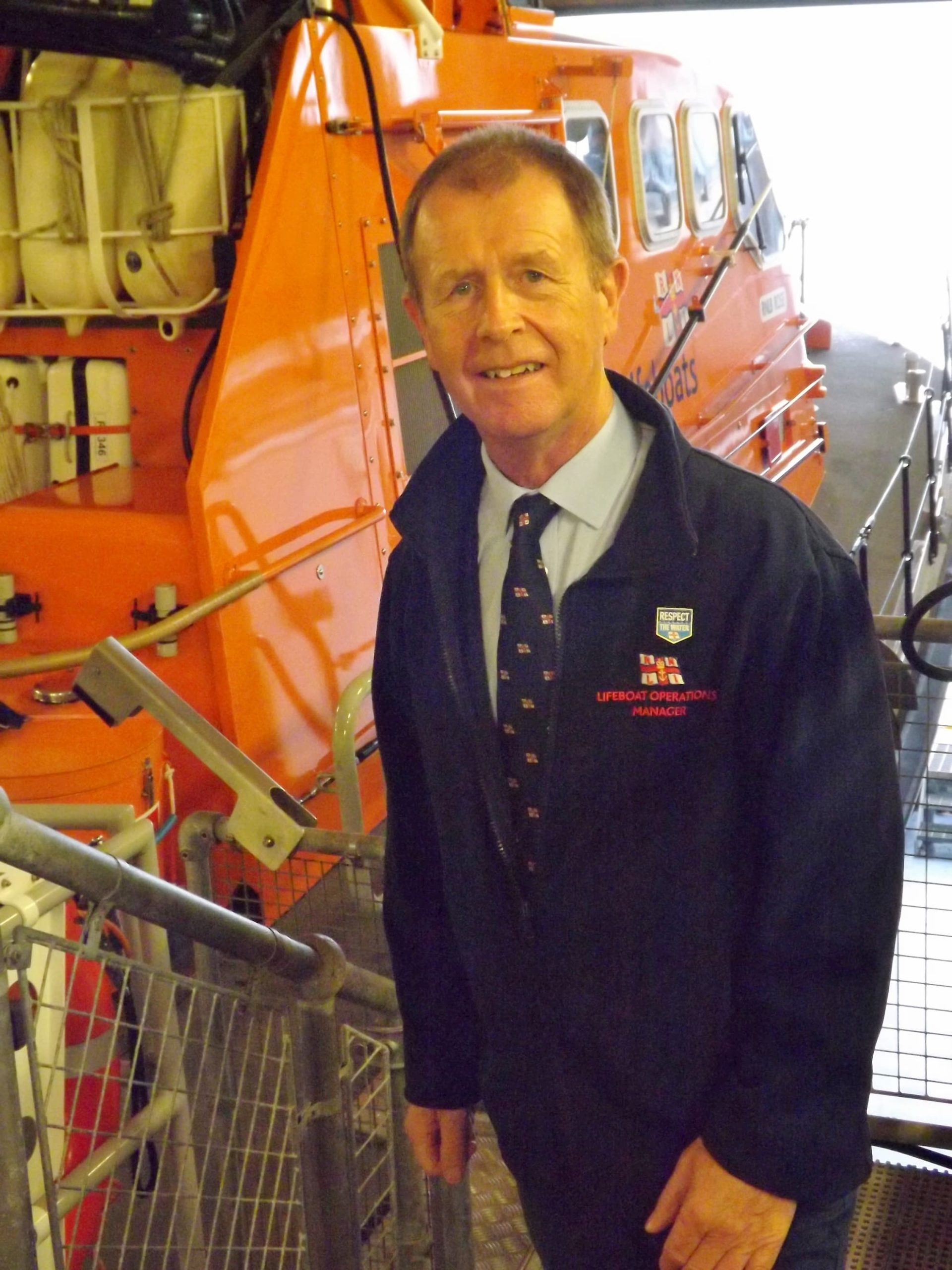 Edward Nuzum, volunteer Lifeboat Operations Manager at The Lizard