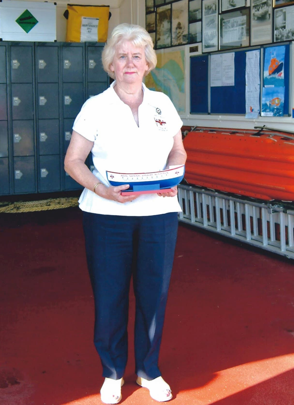 Mary Thomas has dedicated 45 years to the charity and has contributed to saving lives at sea by raising funds as the Chair at RNLI Cleethorpes Fundraising Branch