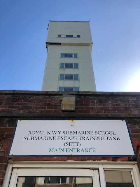 Royal navy submarine school. Submarine Escape Training Tank (SETT) - Main Entrance