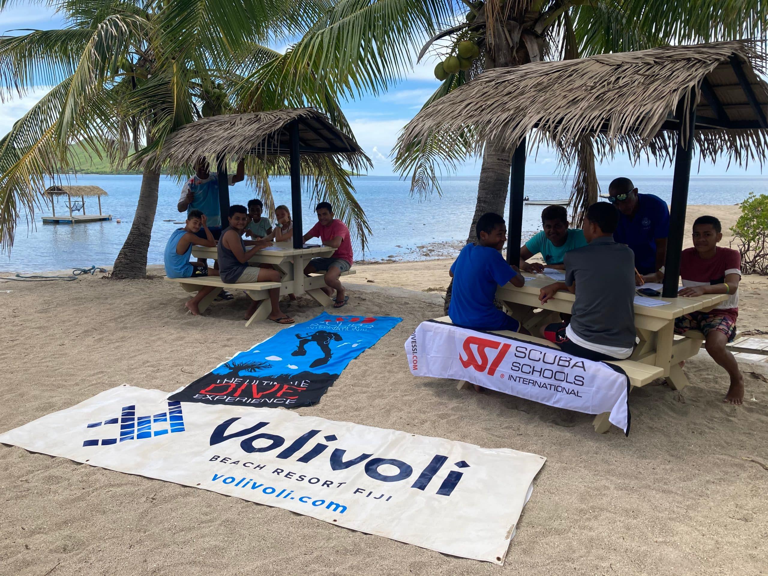 Volivoli Beach Resort Fiji day 3 final exams in an epic classroom