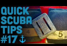 Weights and lead choices for scuba divers