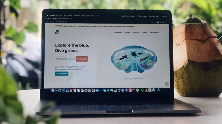 ZuBlu website