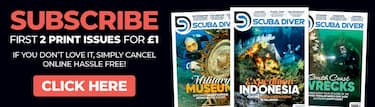 Subscribe to get 1st issue of Scuba Diver Magazine - European Edition with UK Shipping for £1 GBP