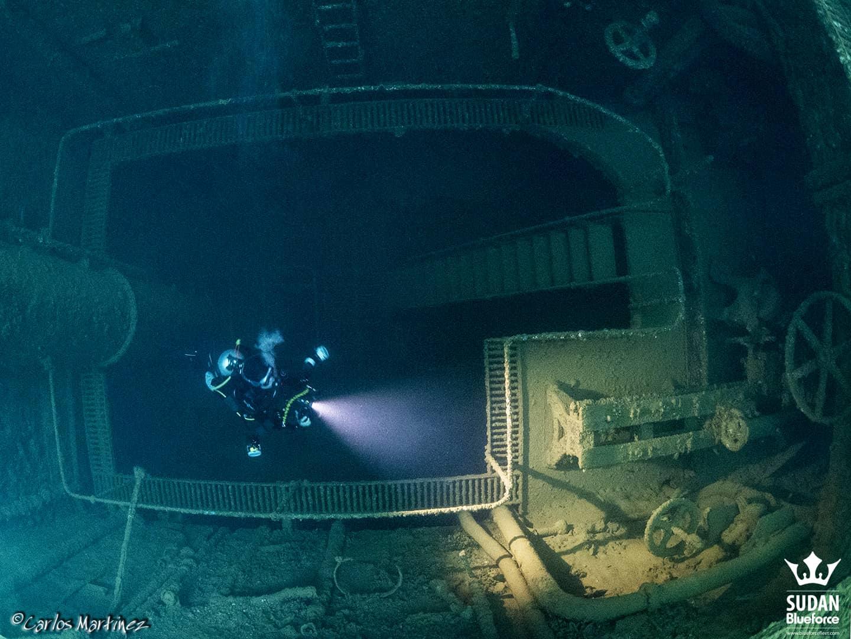 Sudan Diving Umbria Engine Room
