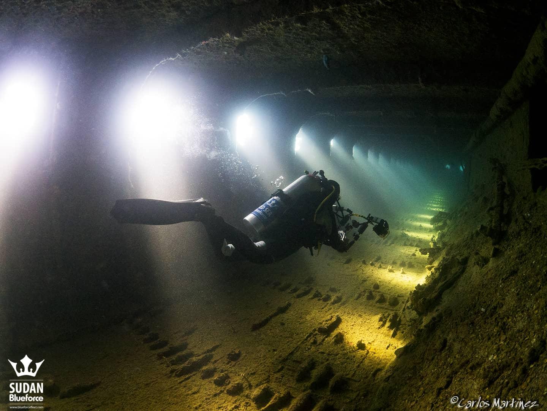 Sudan Diving Umbria Wreck Corridor