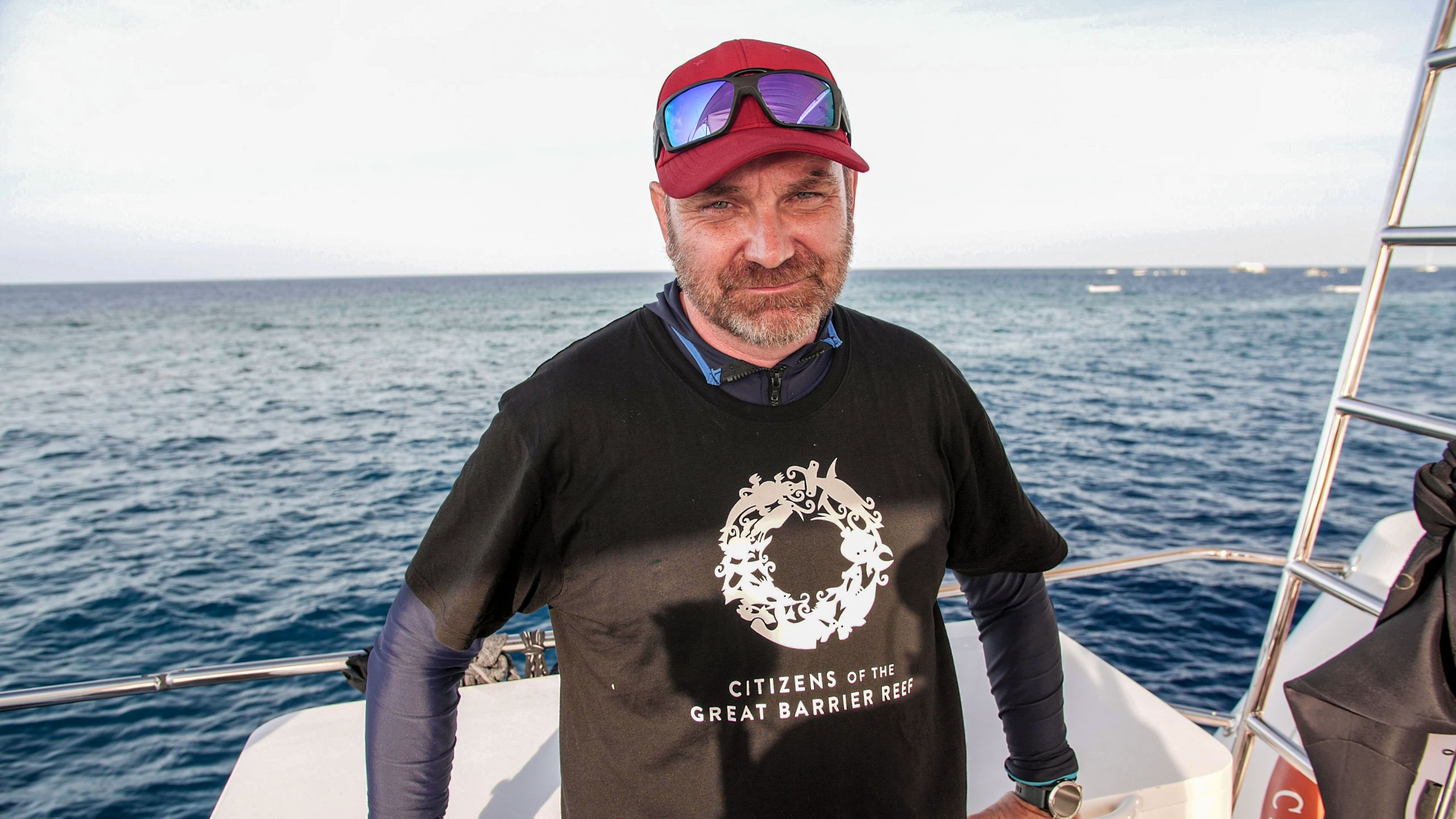 Citizens CEO Andy Ridley at Moore Reef. Credit: Phil Warring