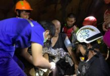 Divers rescue Buddhist monk from flooded Thai cave