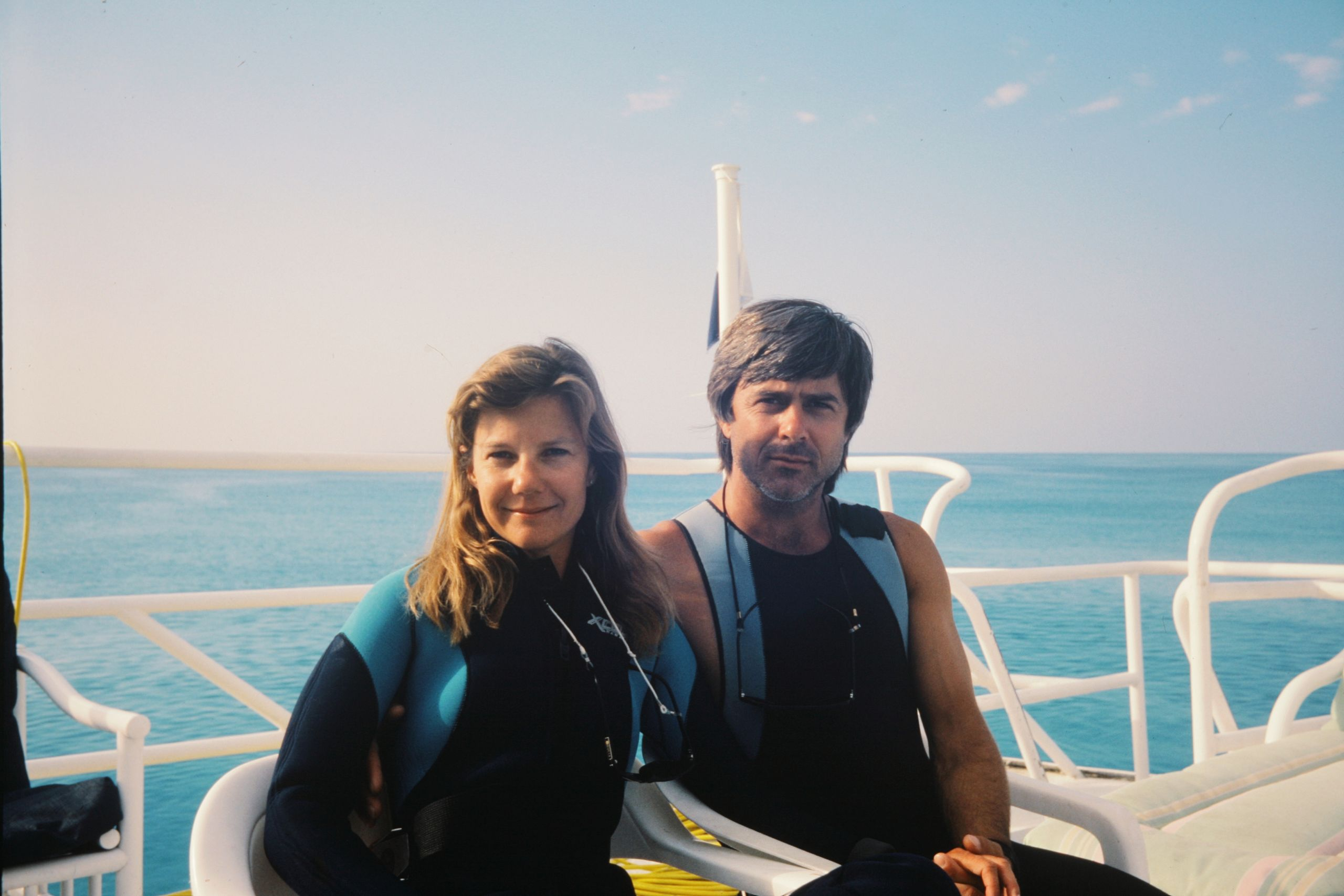 Mimi and Mike before a dive