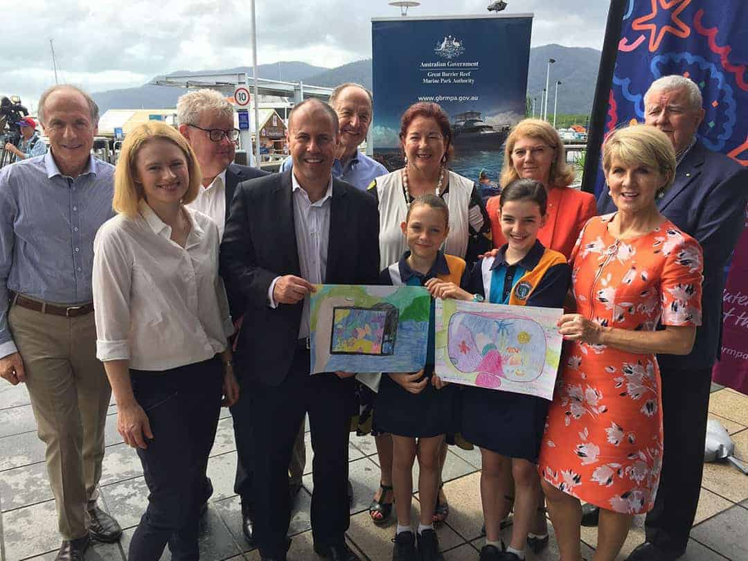 Reef funding announcement, Cairns